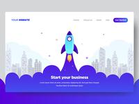 Startup Website Landing page illustration
