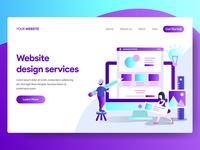 Web Design Services Illustration