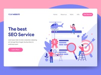 SEO Service Illustration for Web Landing Page