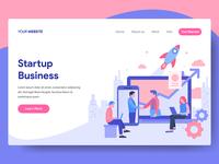 Startup Business Illustration for Web Landing Page