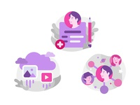 Illustration for Social Media Onboarding Screens