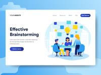 Teamwork and Brainstorming Illustration Concept