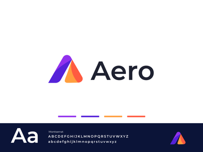 Aero-Logo dribbble vibrant colorful tech logo software app dailylogodesign dailylogo agency brandmark illustration design logomark minimal creative logotype branding identity icon logo