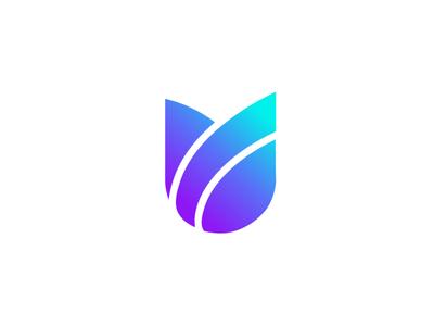 tuliplogo flower illustration tech flower logo modern logo modernism gradient floral agency media flower lettermark app logomark minimal creative logotype branding identity icon logo