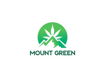 dribbble hill logo mountain logo hemp logo cannabis logo marijuana logo logos illustration design logomark minimal creative logotype branding identity icon logo