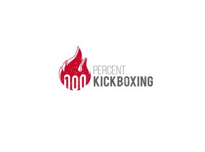 100 percent kickboxing typography lettermark illustration design mark creative logotype branding icon identity logo