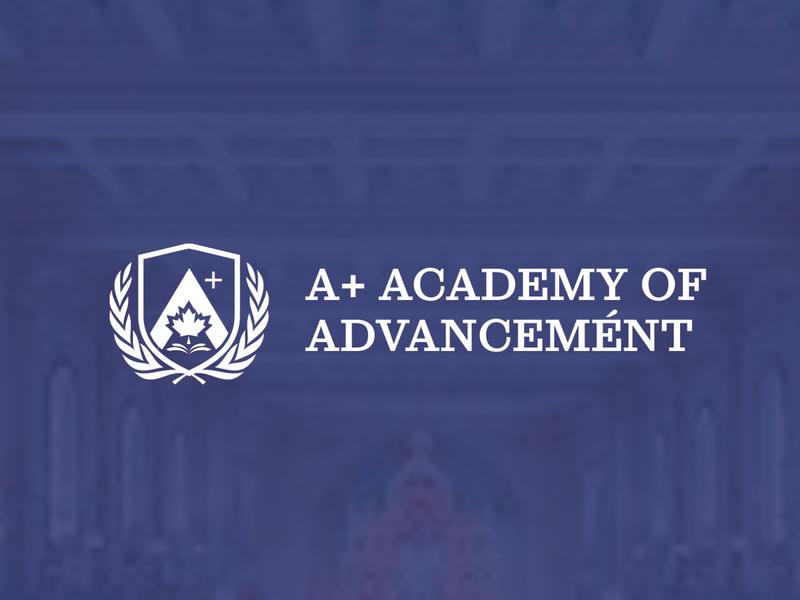 A+ ACADEMY design universities canada minimal branding icon identity logomark logotype logo logodesign college university