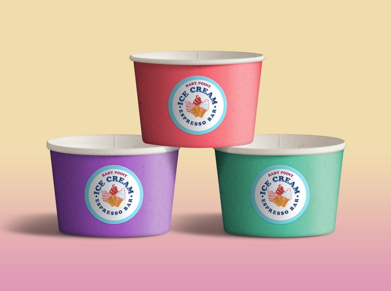 icecream cups logomark logos design minimal ice cream cone ice cream logo icecream logotype branding icon identity logo