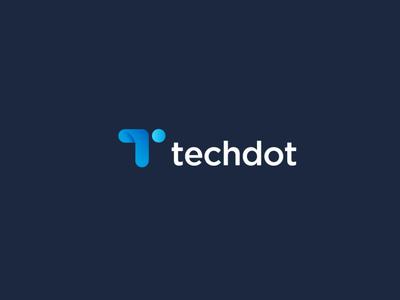 techdot typography illustration design logos minimal logomark creative logotype icon branding identity logo