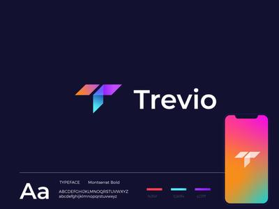 TREVIO app design icons mark logo designer travel agency travel social app brand uidesign ui vector minimal design illustration creative logotype branding icon identity logo