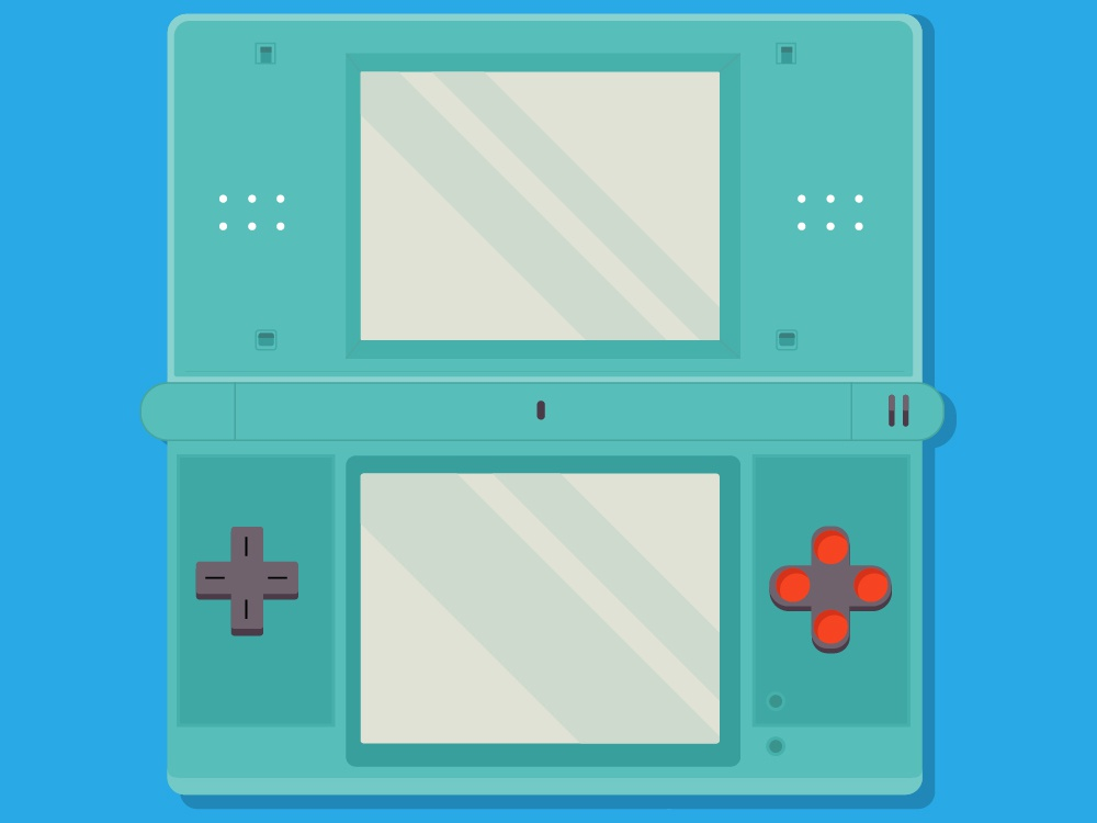 Nintendo Ds vector illustrator colors illustration
