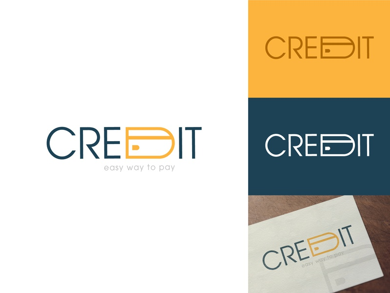 Credit Logo Work credit yellow payment pay card icon credit card