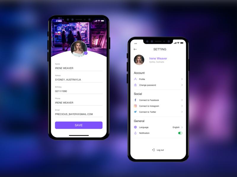 Setting DailyUI #07 design app ux ui