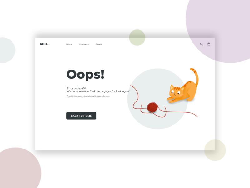 404 Page DailyUI #08 web design illustration