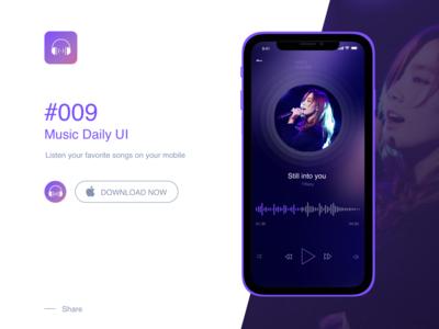 Music DailyUI #09 design app ux ui