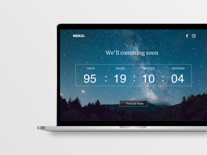 Countdown Daily UI #14 web illustration design