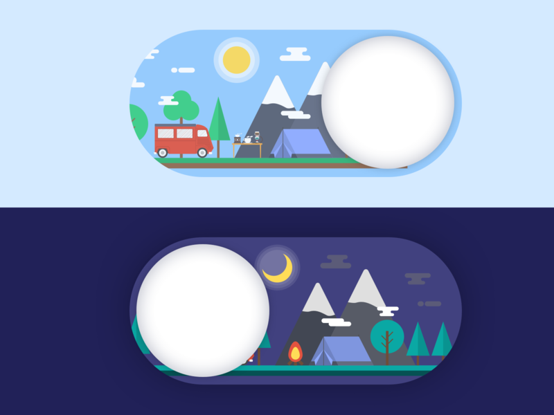 On/Off Switch Button Daily UI #15 icon illustration design