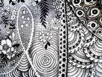 1st Zentangle - Detail