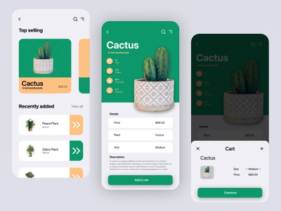 plant shop app (for selling online) part-2 ios product design plant ux ui startup shop online design app