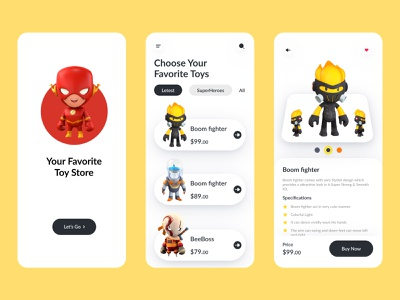 Toy store Mobile App UX-UI Design ux ui uiux application dribbble best shot trending trendy startup toys toy design toy story clean design clean ui clean mobile ui mobileapp app