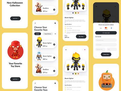 Toy store Mobile App UX-UI Design 2 trending halloween toy app toy store toy ux ui design uxui top ux ui designer mobileapp mobileappdesign mobile app mobile apps app design app