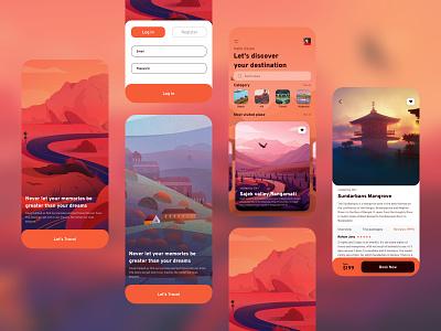 Travel UI exploration - Mobile App 2 design application ios ux mobile ui mobile mobile app tourist turism travel app travel app ui app design app