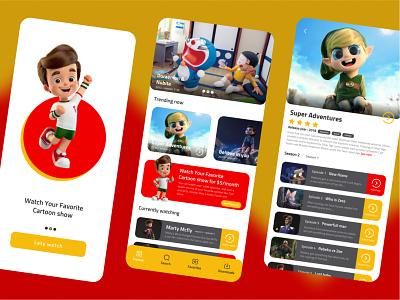 streaming service app card clean gradient ux ui mobile design mobile app mobile ui streaming app streaming app ui app design app