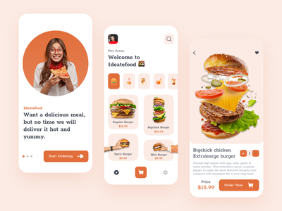 Food Delivery App fresh minimal clean trending app design ux ui mobile app food and drink food