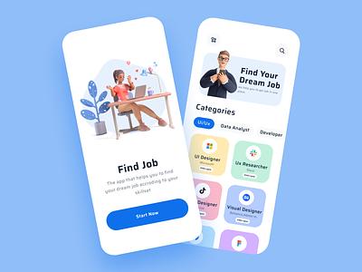 Job Finder Mobile App Exploration mobile app find job ux ui job finder find job product design ios