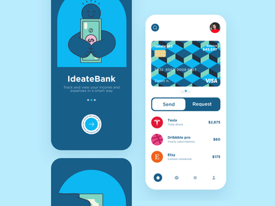 Finance mobile app bank app bank interaction design fintech finance animation clean ios design ux ui app mobile ui mobile app app design