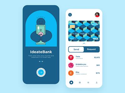 Finance mobile app bank app bank interaction design fintech finance animation clean ios design ux ui app mobile ui mobile app app design