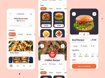 Food Delivery App  🧀 mobile ui app design ui ux food delivery food ordering delivery app food design eating mobile app chef app recipe app burger pizza food order food and drink food