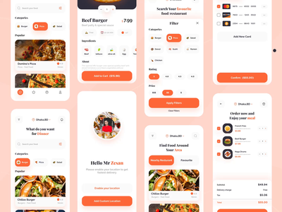 Food Delivery App clean app design app ios ux ui mobile app mobile ui eat eating uiux delivery app food design restaurant app food order food app food and drink food