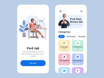 Job Search Platform Mobile App design mobile ui app design mobile app app ui ux graphic design emploee vacancy job application vacancies career product design candidate employment hiring job listing job