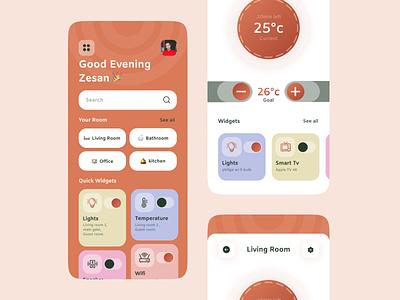 Smart home mobile app mobile ui app design mobile app app ux design smart smarthome house smart home home