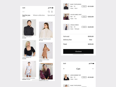 Fashion Mobile App check out ios cloth interaction simple apper brand fashion app design mobile ui freelance clean ui user experience user interface mobile app app ui ux