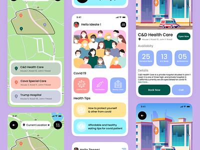 Covid19 App Design app design app ui ux covid19 medical covid-19 pandemic doctor corona corona virus medicare medic apps