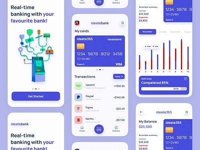 Finance Mobile App ideate zesan ux ui mobile app design mobile design finance fintech banking bank finance app finances financial financial app bank app banking app