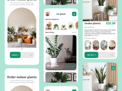 🌲 plant app eco green ideate zesan animation mobile design ui app plant