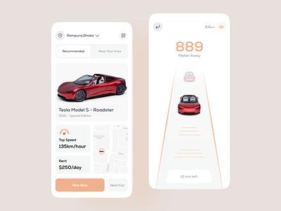 Car Rental App ideate zesan booking tesla search ui mobile driver transport interface app design application mobile app car rental rental app car app car rental company
