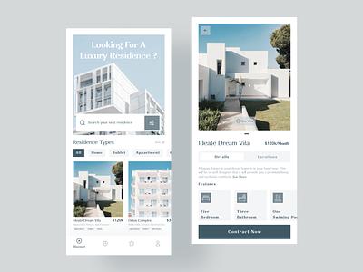 Apartment Rental App house ideate zesan mobile ui mobile app app design app rental app apartment rental apartment design rentals rent house rent rent app booking