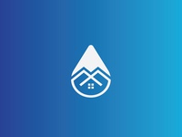 water drop home security logo