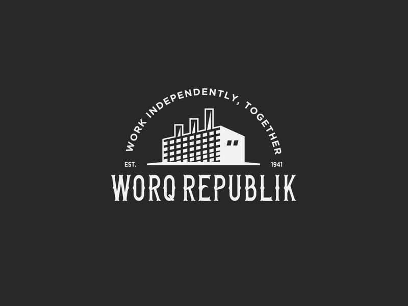 worq vintage badge retro vintage logo vector design illustration branding logo
