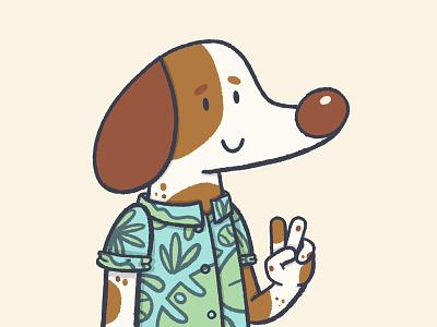 Hi Dribbble, I'm back! procreate illustration dog