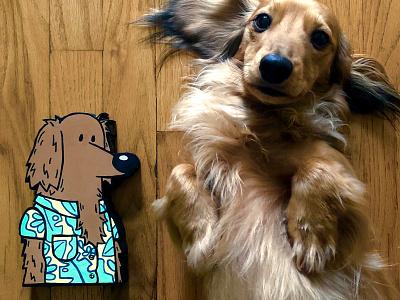 Wood Cutouts paint wood dog