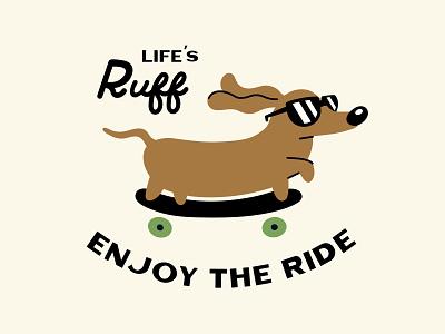 Enjoy the Ride shirt brand illustration dog