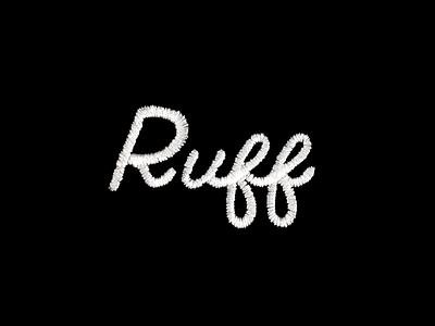 Ruff Logo Embroidery embroidery shirt logo ruff