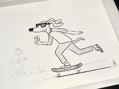 More dogs on skateboards... skateboarding procreate ruff illustration dog