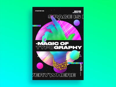 magic of typography Poster