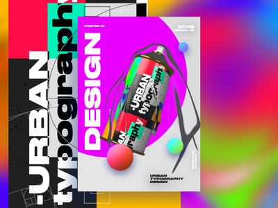 Urban typography Design Poster